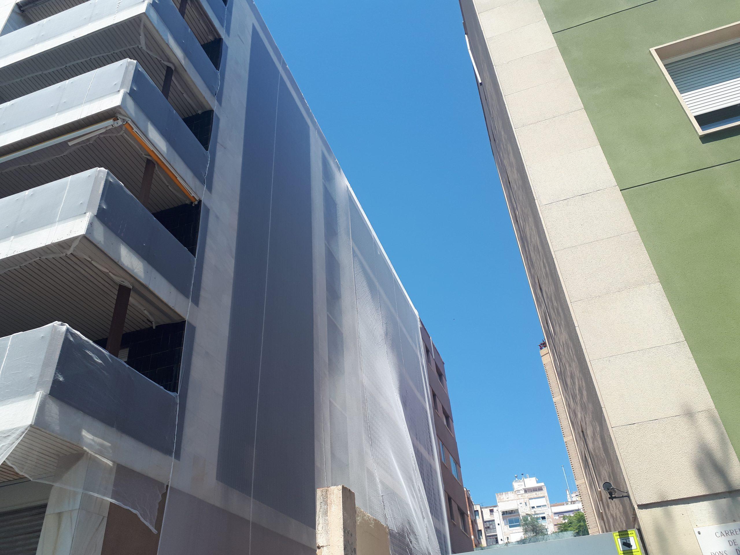 protección fachada